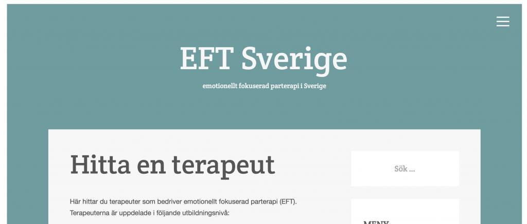 EFT Sverige - hitta en terapeut