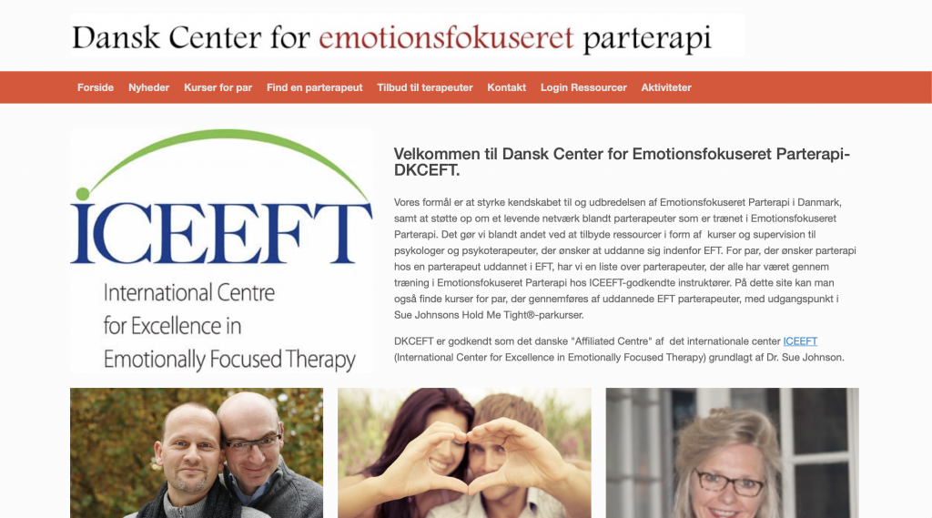 Dansk Center for emotionsfokuseret parterapi är ett EFT Center i Skandinavien